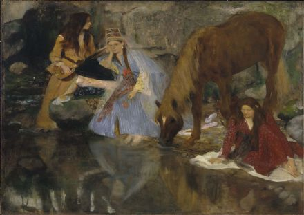 "Degas, Edgar: Portrait of Mlle Fiocre in the Ballet ""La Source"". Fine Art Print.  (003756)"